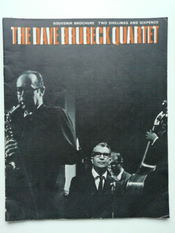 Rare vintage mod jazz DAVE BRUBECK QUARTET - UK Souvenir Brochure programme 1967