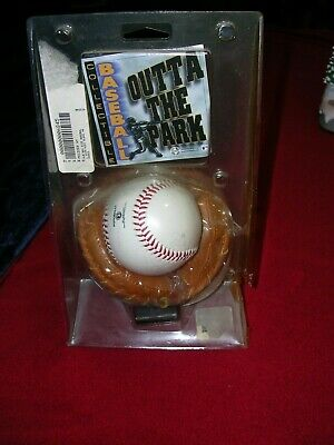 OUTTA THE BALLPARK - NY YANKEES - LEATHER GLOVE & EMBOSSED BALL - PRE-OWNED