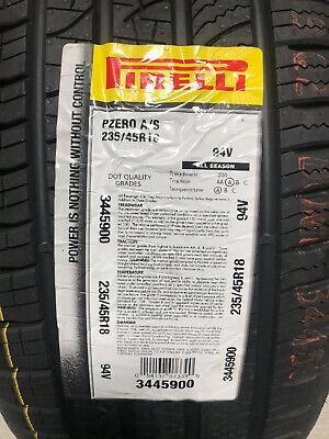 4 New 235 45 18 Pirelli P Zero All Season Tires