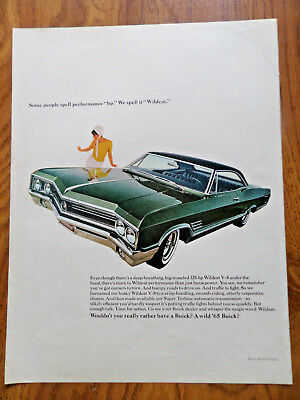 1965 Buick Wild Cat Ad some People Spell Pereformance HP We Spell it Wildcat