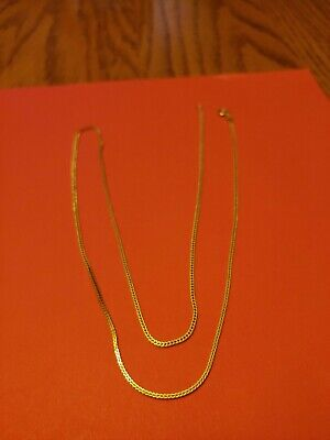24k gold necklace.  Pure Gold. 23 inches. No Flaws.  From Saudi Arabia. 6 grams