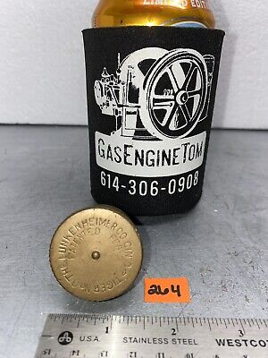 Lunkenheimer Tiger 0 Brass Screw Top Grease Cup Hit Miss Gas Engine Antique Old