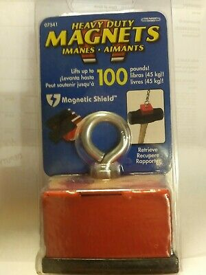 Master Magnetics Strong Retrieving Magnet With Eyebolt And Nut Fishing Magne...
