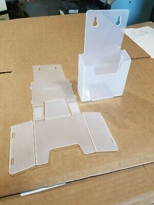 4 Pack Brochure Holder 4 12 X 7 78 Desktop Or Wall Mount