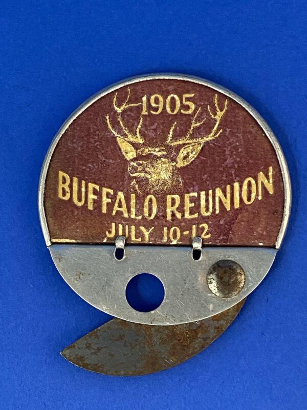 1905 Elk Fraternal Buffalo Re-Union  Cigar Cutter & Mirror