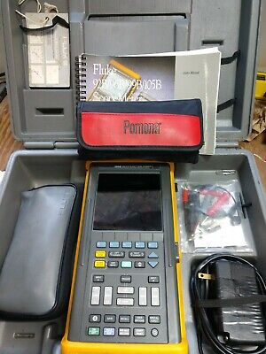 Fluke 105b 100mhz Scopemeter Series Ii Includung Probes Accessories And Case
