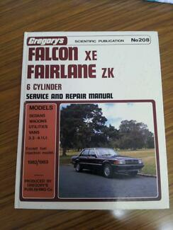 Ford Falcon XE Fairlane ZK workshop service manual Maylands Bayswater Area Preview