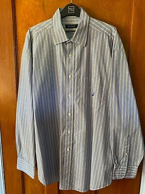 Nautica Men's Striped Button Up Long Sleeve Shirt: Size Extra Large (XL)