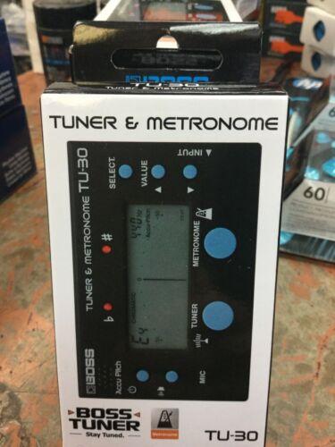 BOSS TU-30 Chromatic Guitar Bass Tuner w/ Built-in Metronome BRAND NEW