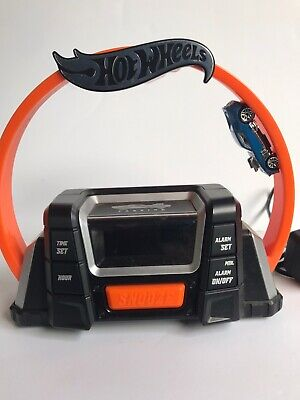 Hot Wheels 360 Alarm Clock Radio Kids