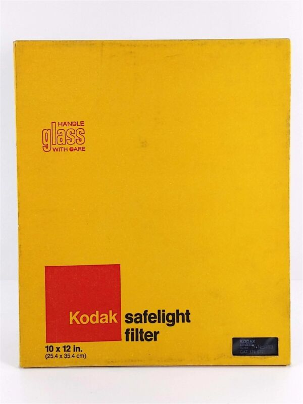 "KODAK Vintage 10 x 12"" Safelight Filter No. 13 Amber Cat 1796721 NOS"