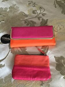 Colette Hayman Tri-Fold Bright Wallet & Small Coin/Key Purse Mindarie Wanneroo Area Preview