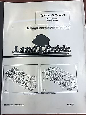 Landpride Owners Manual Rta10 Rta15 Rotary Tillers Used