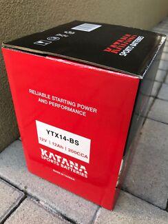 Motorbike Battery Brand New Katana/Yuasa