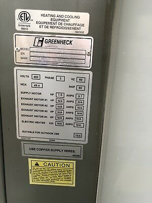 GREENHECK 800,000 Btu Non-Recirculating natural gas industrial heater