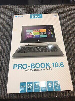 """Trio Pro Book 10.6"""" Windows 2-in-1 Tablet Brand new  Sealed segunda mano  Embacar hacia Mexico"""