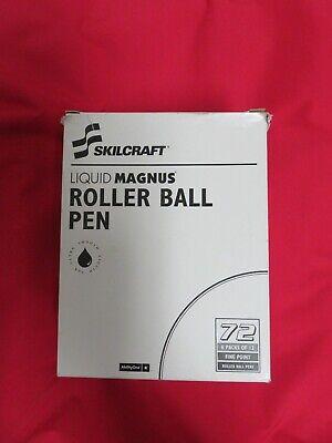 72 New Skilcraft Liquid Magnus Roller Ball Pen 0.7 Mm Black Office Special