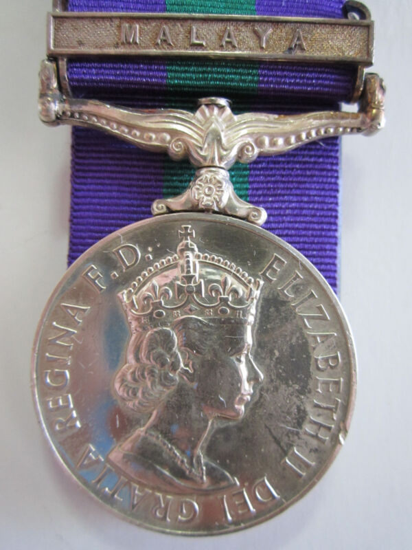 "British General Service Medal ""MALAYA"" clasp - Pte. G.J. Heffer R.A.O.C."