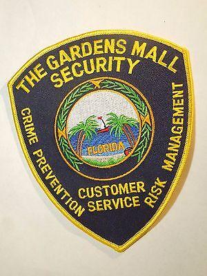 The Garden Malls Security Florida Shield Shape Shoulder Iron On Patch (Gardens Mall Florida)