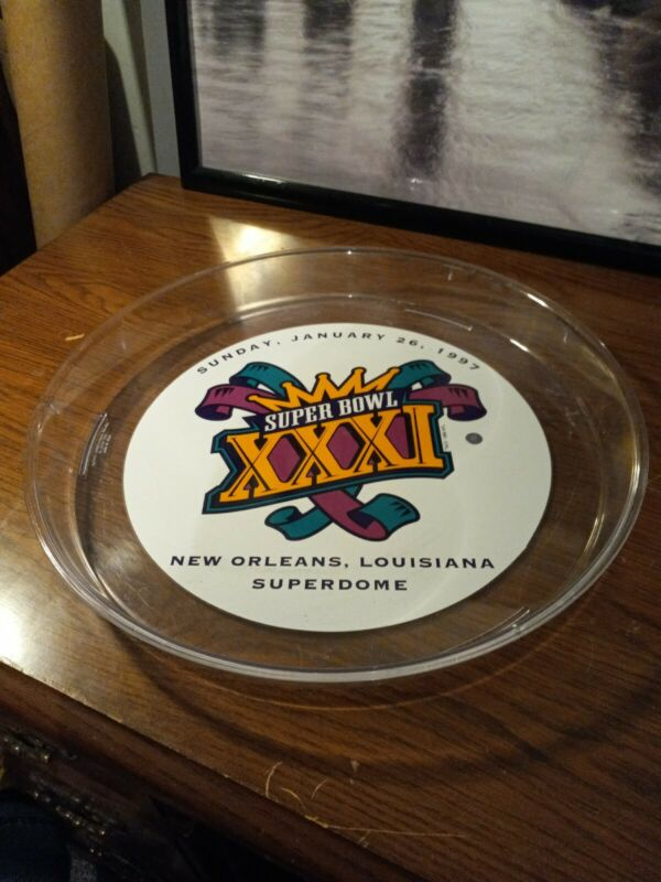 Super Bowl XXXI New Orleans 1997 Packers And Patriots Platter/Tray Rare***