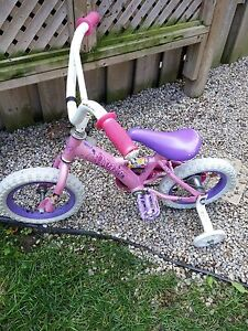 "Princess 12"" bike with training wheels"