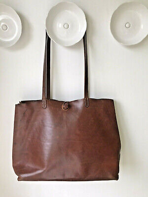 Large Henry Beguelin Leather with Natural Stitching Barneys New York