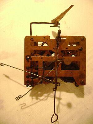 VINTAGE GERMAN Cuckoo Clock MFG Co. Inc. Clock Movement W CUCKOO - Untested