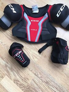 CCM chest protector and elbow pads