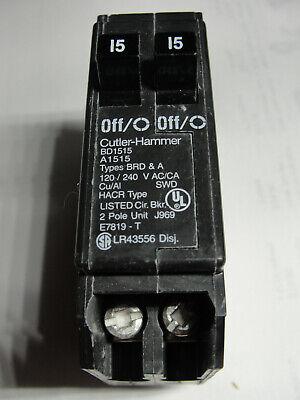 New Cutler Hammer Bd1515 2p 1515a Type Brd A