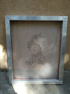 20 X 21 - Aluminum Frame With 130 Mesh Screen Printing Screen Used
