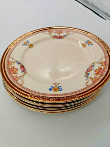 Antique ALFRED MEAKIN, Bone China Lunch/Salad Plates(6) Athol Pattern (1940) 9""