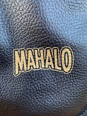 MAHALO ukulele case gig bag black white gold