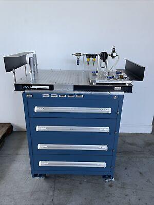 Newport Rg-23-2 Optical Table Prism Bonding Breadboard Custom Mounted