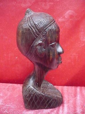 Old Wooden Figure __ Bust __Africa__ 27, 5cm __ 1.4 kg __