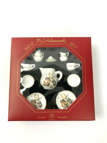 MJ Hummel Mini Tea Set Doll House Reutter Made In Germany