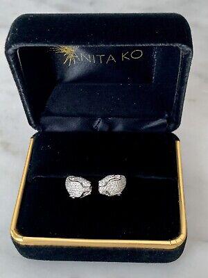 Gorgeous Authentic 18K WG Diamond Anita Ko Double Panther Head Ring, size 6