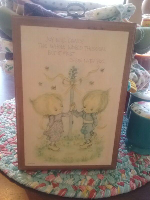 FINAL LIST: IHallmark Betsey Clark VINTAGE wooden plaque 6 x 4.5 BETSEY & BEAU