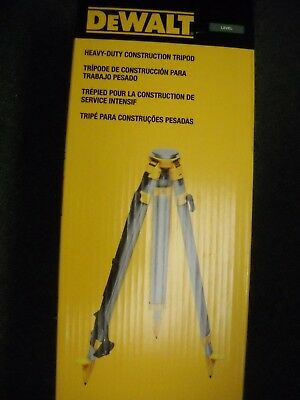 "DeWALT DW0737 60"" Construction Laser Grade Level Tripod 5/8"" x 11"" Threads NEW"