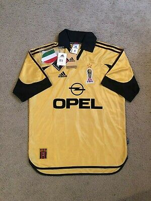 RARE NEW w/ Tags 1999-00 AC Milan Serie A Adult M Centenary Adidas Soccer Jersey