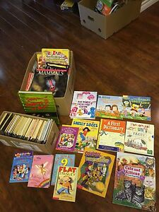 5 boxes of kids books