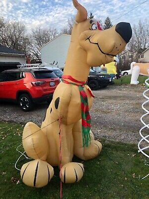 Vintage Gemmy Airblown Inflatable Christmas Scooby Doo 8 Foot Tall very RARE!!