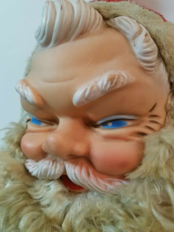 """VTG 24"""" Jumbo My Toy Rubber Face Stuffed Plush Santa Claus Doll For Parts Resto"""