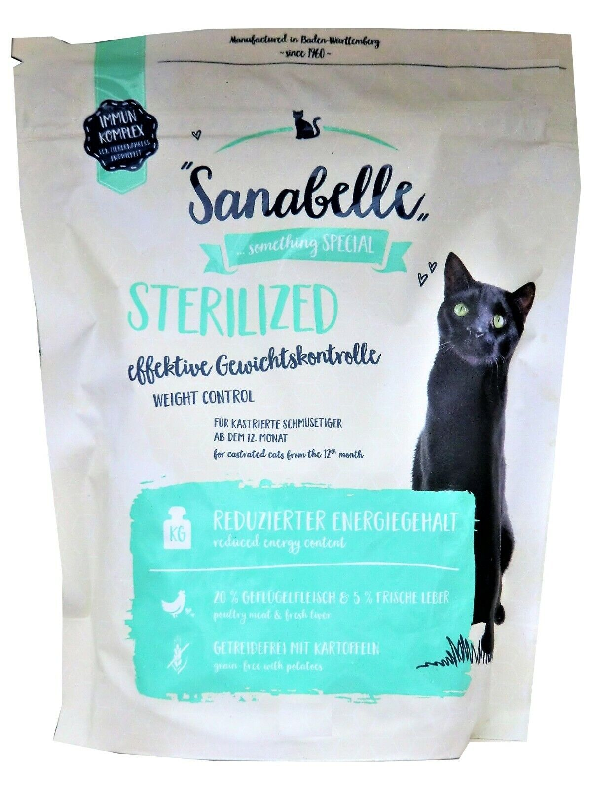"""Sanabelle Sterilized """"effektive Gewichtskontrolle"""" Diät-Katzenfutter: 2 kg"""