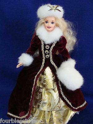 Happy Holidays 1996 Barbie Doll W  Stand Special Edition