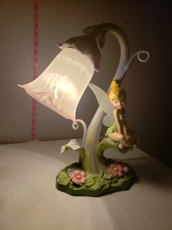 Vintage Disney Tinkerbell Table Lamp #27130 Tink Sitting on Leaf..Stunning!
