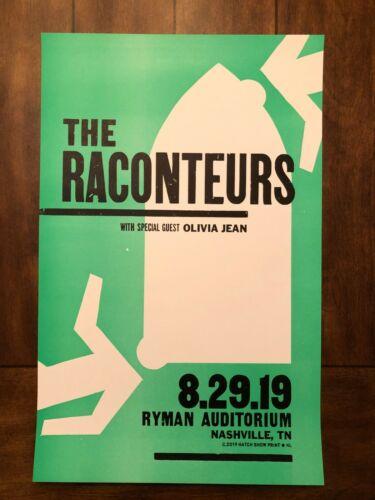 The Raconteurs 8-29-19 Hatch Print Poster Nashville, TN Ryman Auditorium Night 1