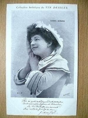Postcards of Edwardian Theatre & Opera stars: SIMON GIRARD, by Vin Desiles