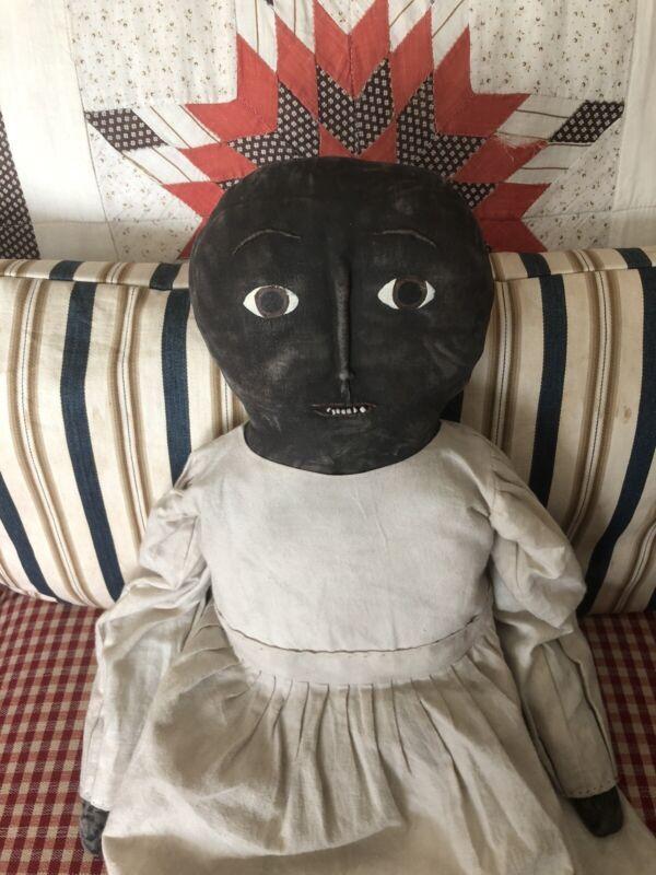 Folky Black Doll -beaded teeth-Beautiful!!