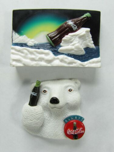 COCA COLA SODA BOTTLE BEAR FRIDGE MAGNET Refrigerator 1995 1996  Rubber Plastic