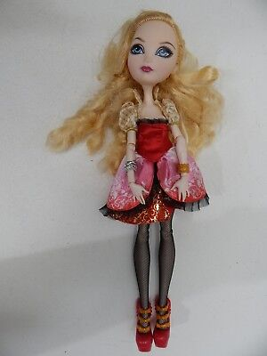 Ever After High Apple Toy Doll Mattel Blonde Hair Articulated Outfit Shoes 1st